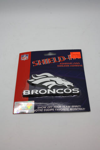 Denver Broncos Shield It Adhesive Logo