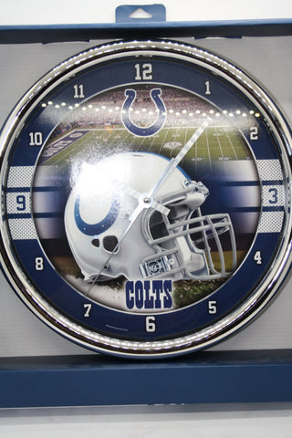 Indianapolis Clots Chrome Clock