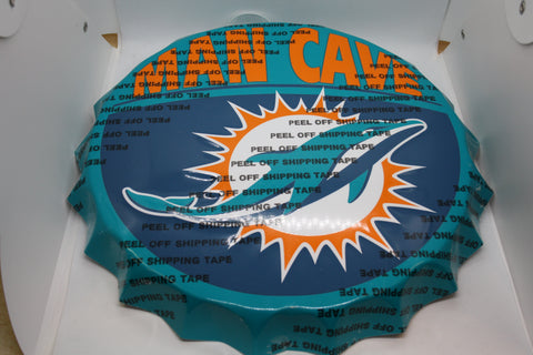 Miami Dolphins Bottle Cap Sign