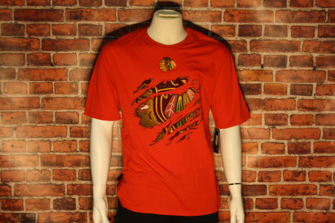 Chicago Blackhawks Ripped Logo Men's T-Shirt
