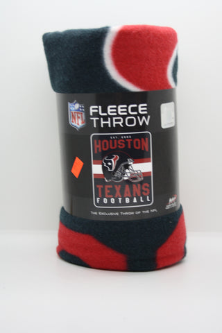 Houston Texans Fleece Throw