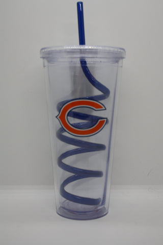 Chicago Bears Straw Cup
