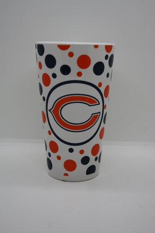 Chicago Bears Dotted Glass