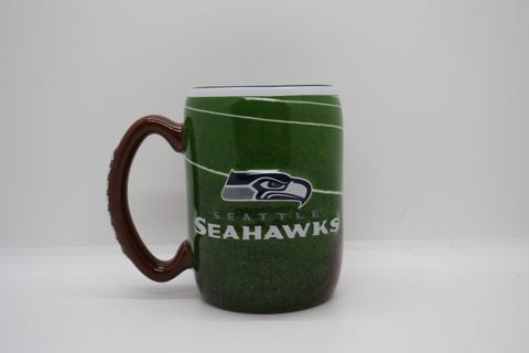 Seattle Seahawks Football Glass