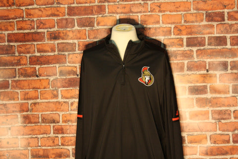Ottawa Senators adidas Black Authentic Pro Quarter-Zip Jacket
