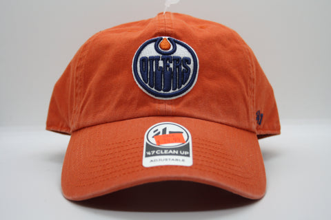 Edmonton Oilers Orange Clean Up Cap