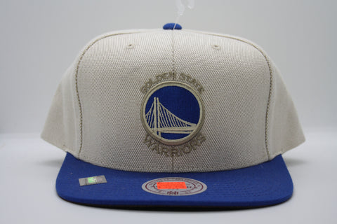 Golden State Warriors Cream Oxford SnapBack