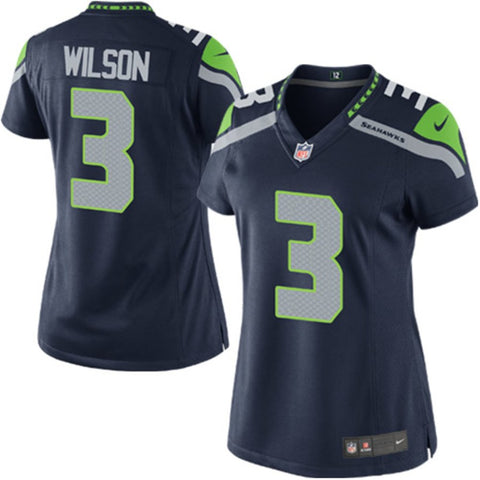 Russell Wilson Seattle Seahawks Nike Women's Game Jersey - College Navy