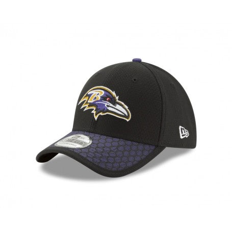 Baltimore Ravens New Era Black 2017 Sideline Official 39THIRTY Flex Hat