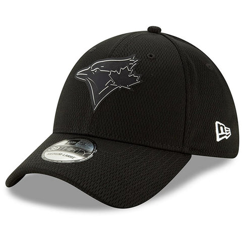 Men's Toronto Blue Jays New Era Black Clubhouse Collection 39THIRTY Flex Hat