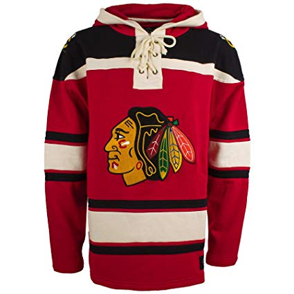 Chicago Blackhawks Blank Lacer Hoodie