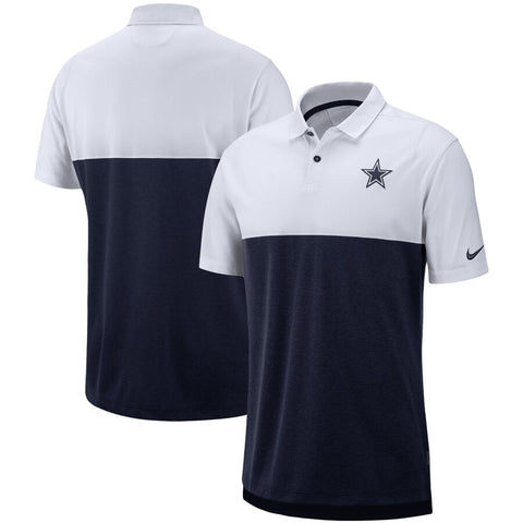 Dallas Cowboys Nike Sideline Early Season Performance Polo - White/Navy