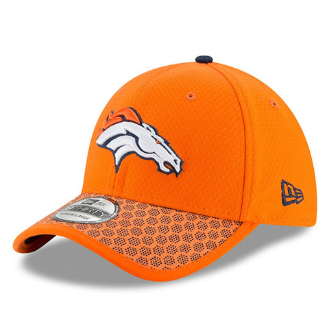 Men's Denver Broncos New Era Orange 2017 Sideline Official 39THIRTY Flex Hat