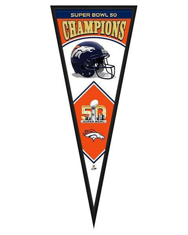 Denver Broncos Superbowl 50 Pennant
