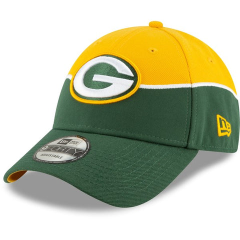 Green Bay Packers New Era 2019 NFL Draft On-Stage Official 9FORTY Adjustable - Hat – Gold