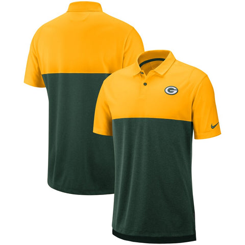 Green Bay Packers Nike Sideline Early Season Performance Polo – Gold/Green