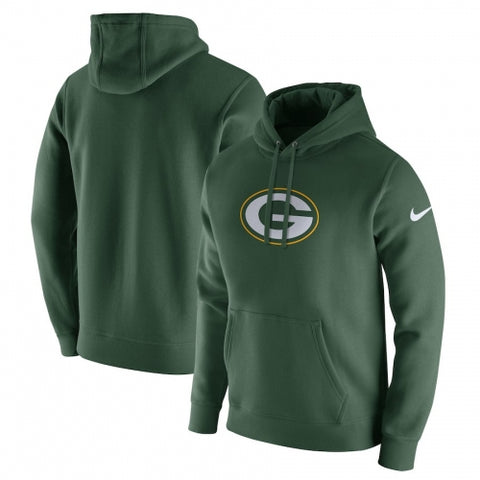 Green Bay Packers Nike Club Fleece Pullover Hoodie - Green