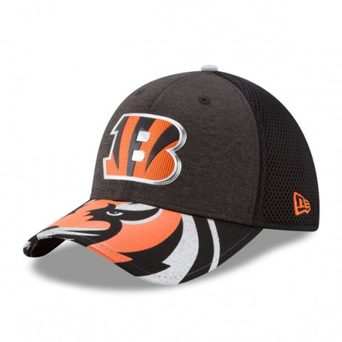 Cincinnati Bengals New Era Black 2017 NFL Draft On Stage 39THIRTY Flex Hat