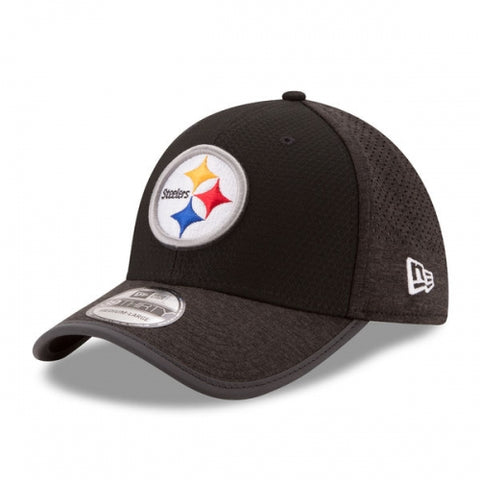 Pittsburgh Steelers New Era 2017 Training Camp Official 39THIRTY Flex Hat - Black