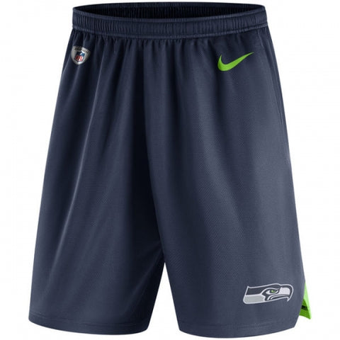 Seattle Seahawks Nike College Navy Knit Performance Shorts