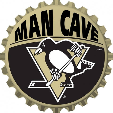 Pittsburgh Penguins Bottle Cap Sign