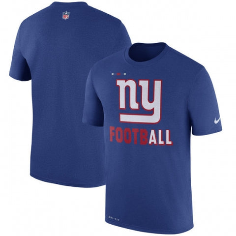 New York Giants Nike Sideline Legend Football Performance T-Shirt - Royal