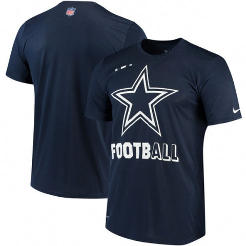 Dallas Cowboys Nike Sideline Legend Football Performance T-Shirt - Navy