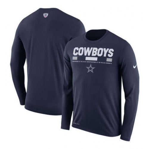 Dallas Cowboys Nike Sideline Legend Staff Performance Long Sleeve T-Shirt - Navy