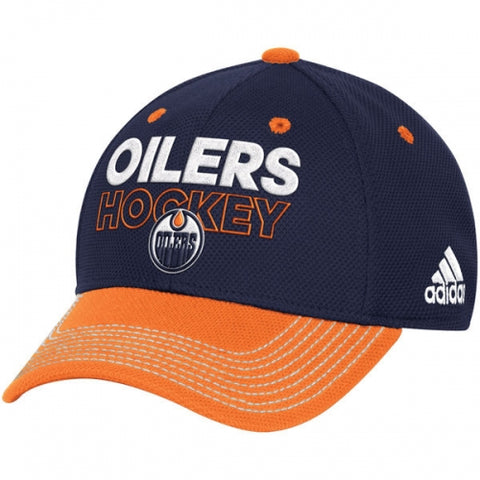 Edmonton Oilers Adidas Blue Locker Room Flex Hat
