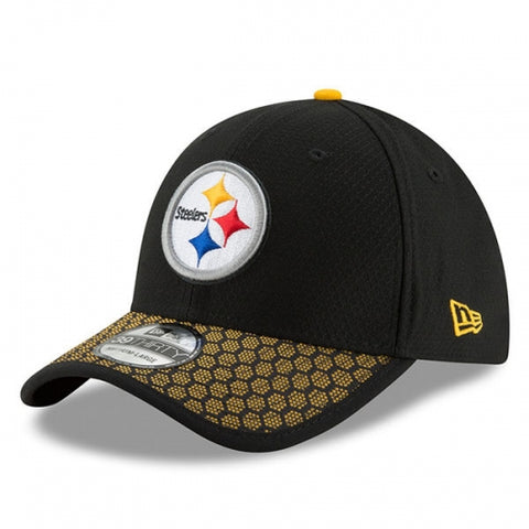 Pittsburgh Steelers New Era 2017 Sideline Official 39THIRTY Flex Hat - Black