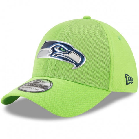 Seattle Seahawks New Era 2017 Color Rush 39THIRTY Flex Hat Neon Green