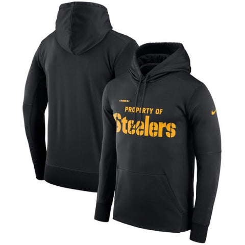 Pittsburgh Steelers Nike Sideline Property Of Performance Pullover Hoodie - Black