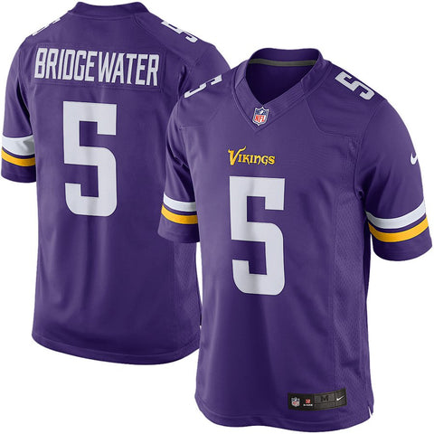 Teddy Bridgewater Minnesota Vikings Nike Limited Jersey - Purple