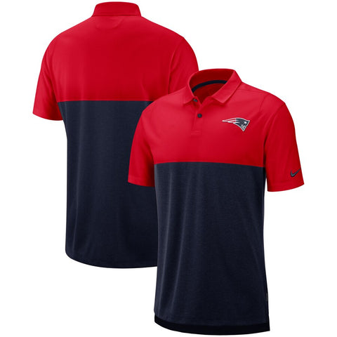 New England Patriots Nike Sideline Early Season Performance Polo – Red/Navy