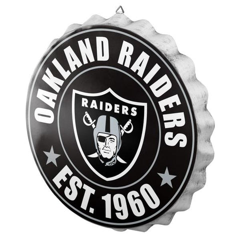 Oakland Raiders Beer Cap Wall Sign