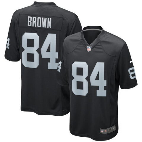 Men's Nike Antonio Brown Black Oakland Raiders – Game Jersey