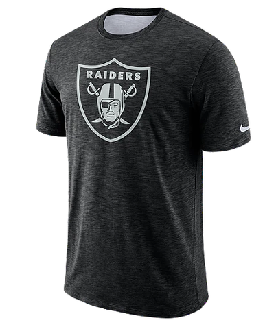 Oakland Raiders Nike Men's Dri-FIT Slub Sideline T-Shirt