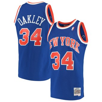 New York Knicks Oakley Mitchell & Ness Jersey