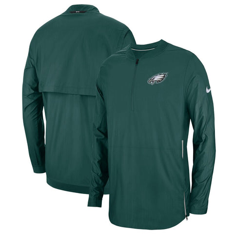 Men's Nike Midnight Green Philadelphia Eagles Sideline Lockdown Quarter-Zip Jacket