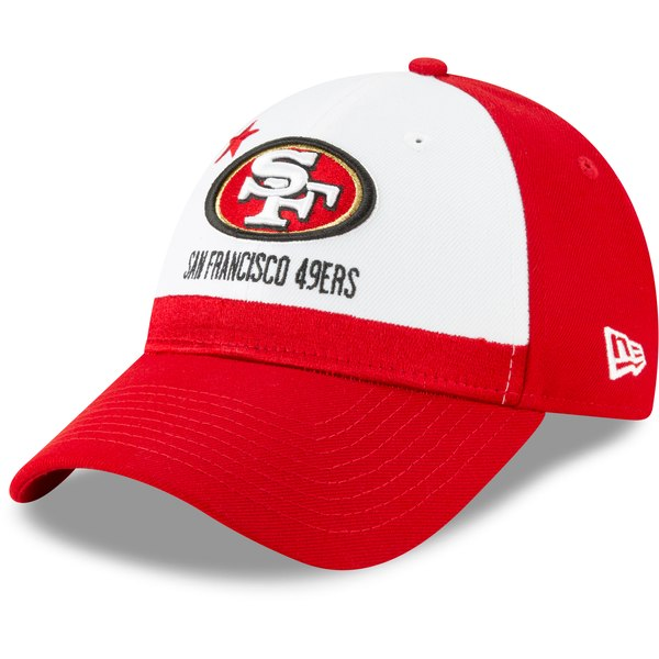 32d7b6ba San Francisco 49ers New Era 2019 NFL Draft On-Stage Official 9FORTY  Adjustable - Hat – White