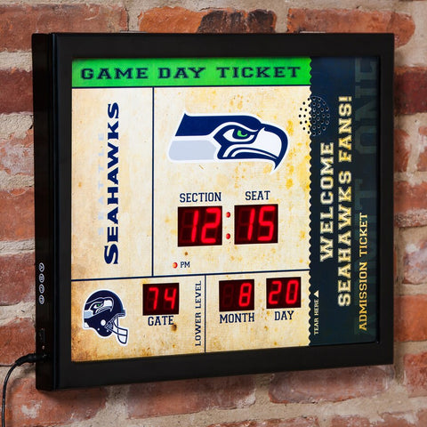 Seattle Seahawks Alarm Clock Scoreboard