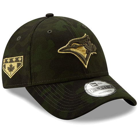 Toronto Blue Jays New Era 2019 MLB Armed Forces Day 9FORTY Adjustable Hat - Camo