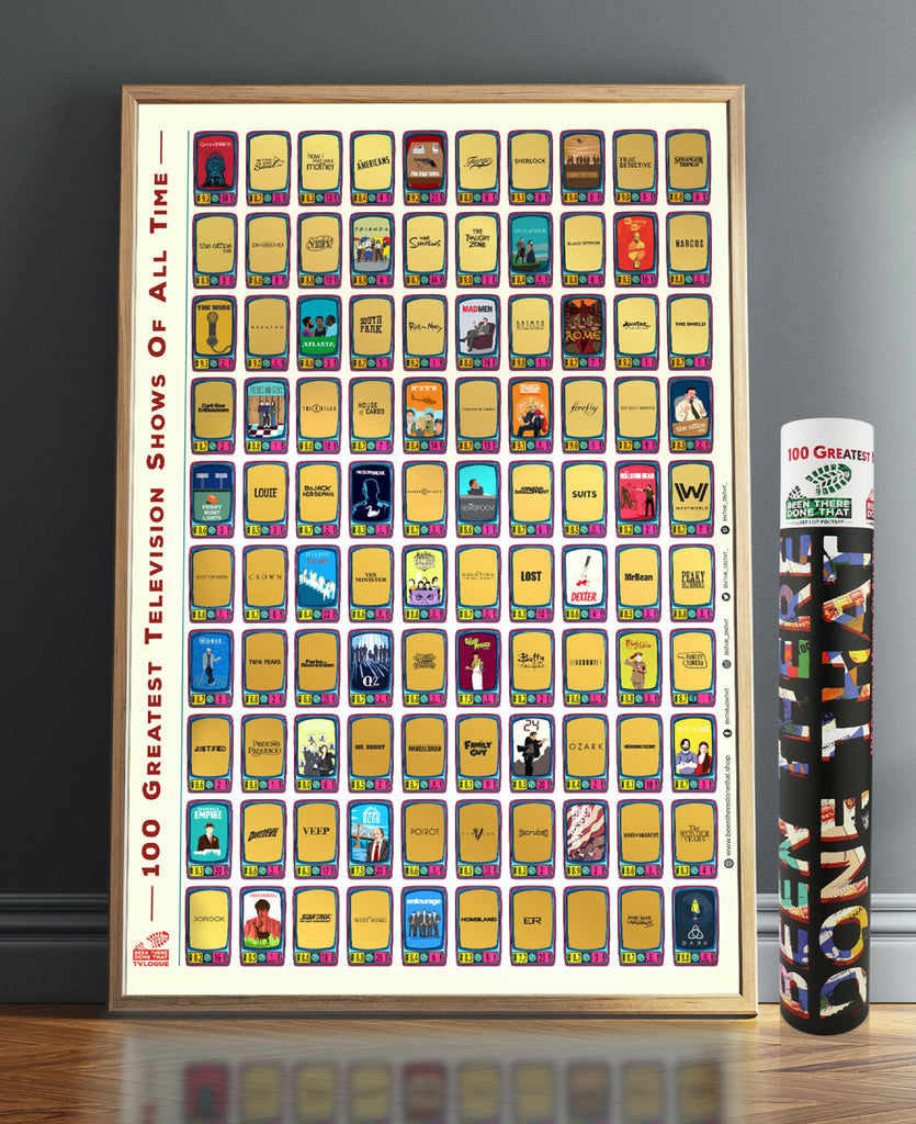 BTDT TVLOGUE BUCKET LIST SCRATCH POSTER BEEN THERE DONE THAT