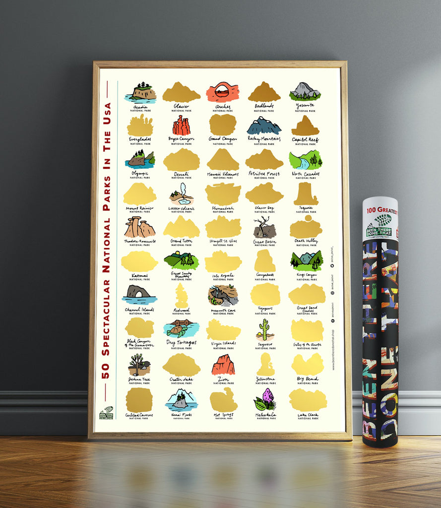 BEEN THERE DONE THAT BTDT PARKLOGUES 50 SPECTACULAR NATIONAL PARKS BUCKET LIST SCRATCH POSTER