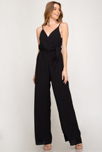 Load image into Gallery viewer, VNECK ROMPER WITH SIDE BODY BOW TIE