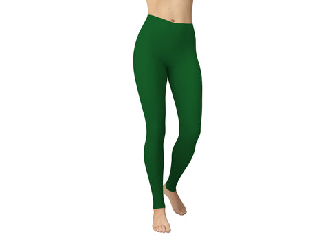 JAMBY Wintergreen Solid Yoga Leggings