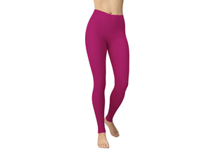 JAMBY Berry Solid Yoga Leggings