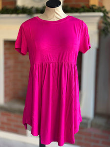 Pink Baby Doll Tunic