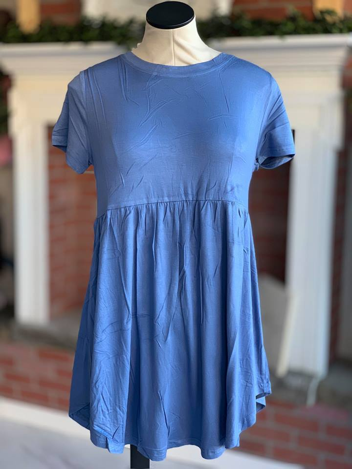 Peacock Blue Baby Doll Tunic