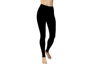 JAMBY Black Solid Yoga Leggings